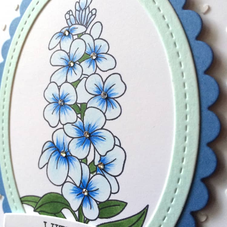 Blue flowers for mom on Mother's Day. These will never wilt and will be pinned to the fridge in no time!