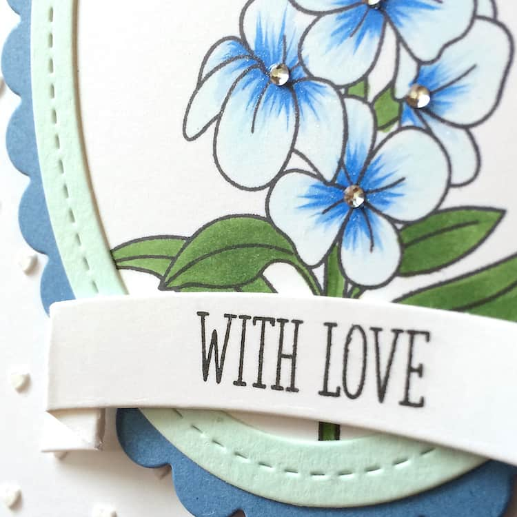 Making a Framed Flowery Mother's Day Card