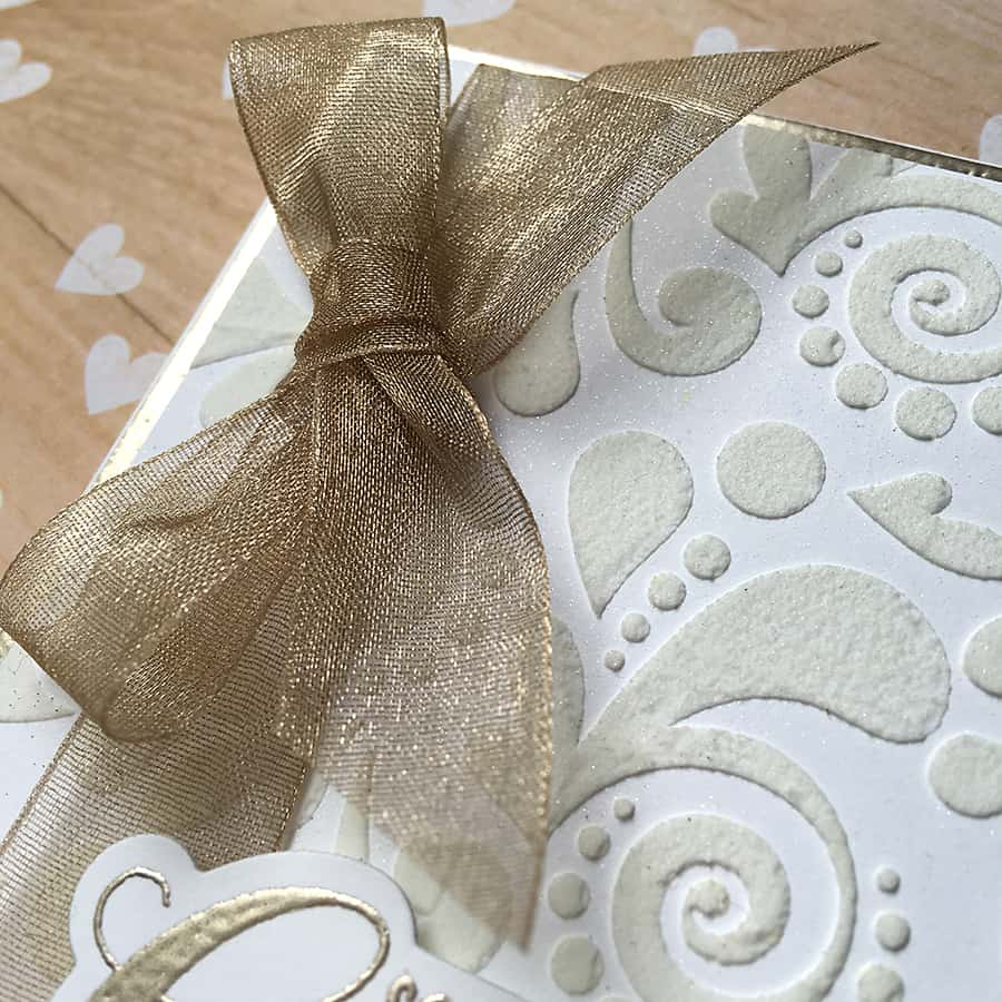Embossing Two Ways: Congratulations