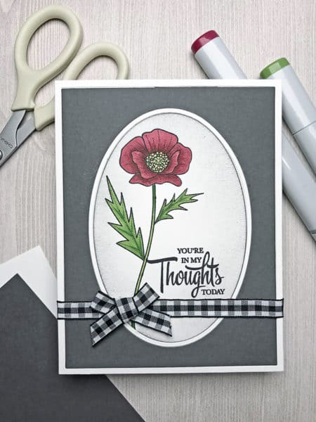 Coloring a Poppy With Copic Markers