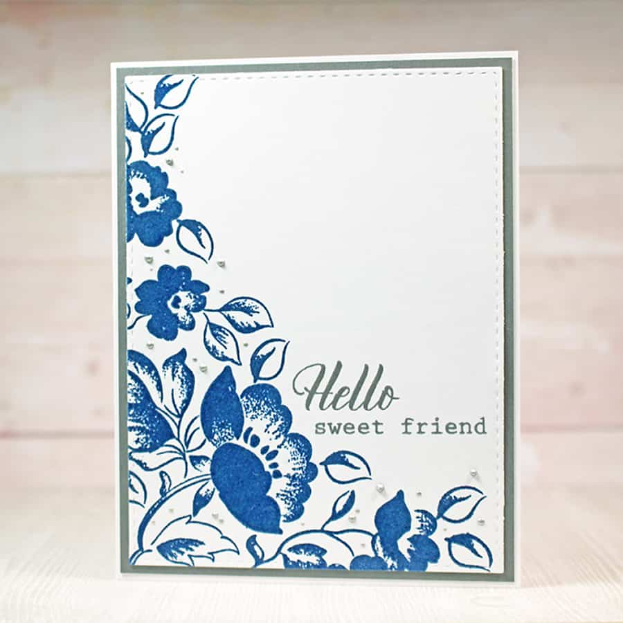 Saying Hello with Embossed Florals From Altenew