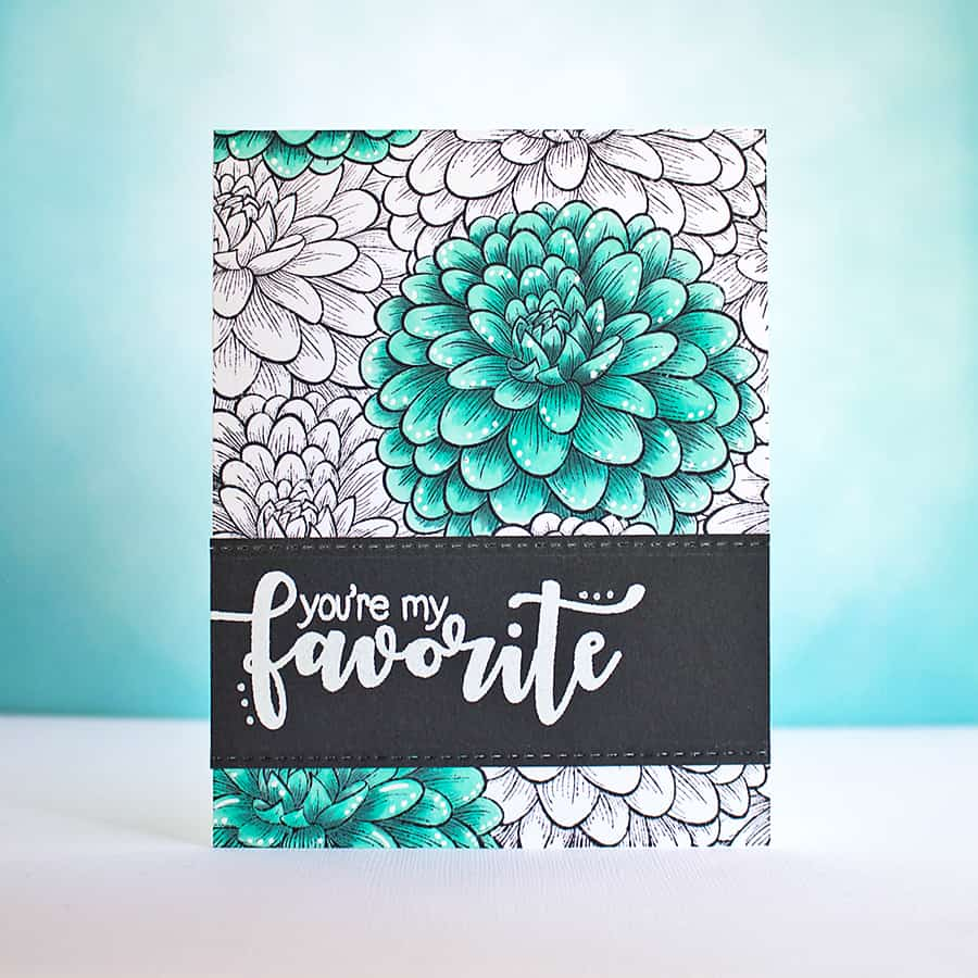 A Favorite Floral Background with Copics