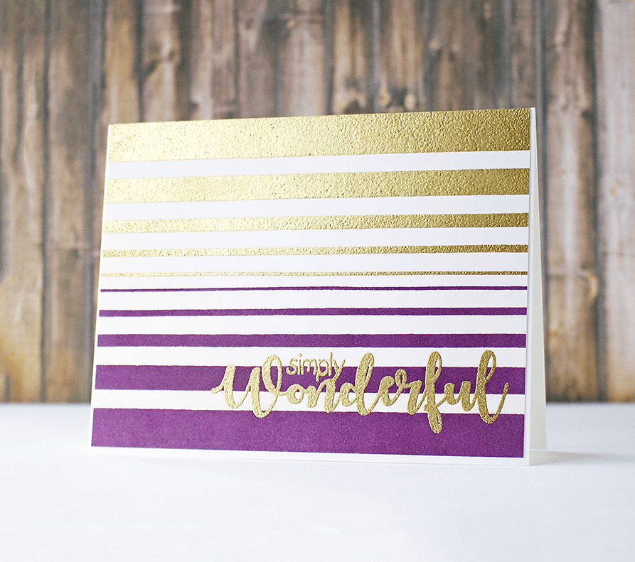 Making Easy Card Backgrounds With Stripe Stamps