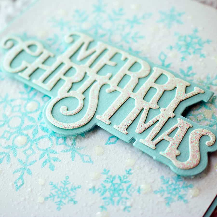 How to Make a Wintry Background with Distress Resist Spray + Nuvo Glitter