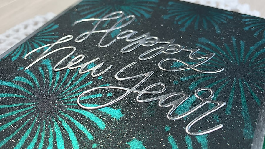 Making Stenciled Fireworks with Perfect Pearls
