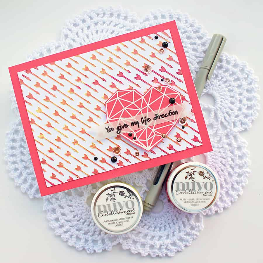 Stenciling with Tonic Nuvo Embellishment Mousse + Video
