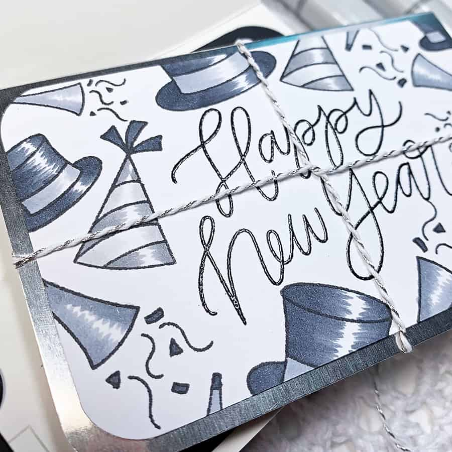 Monochromatic Gift Card Holder for New Years