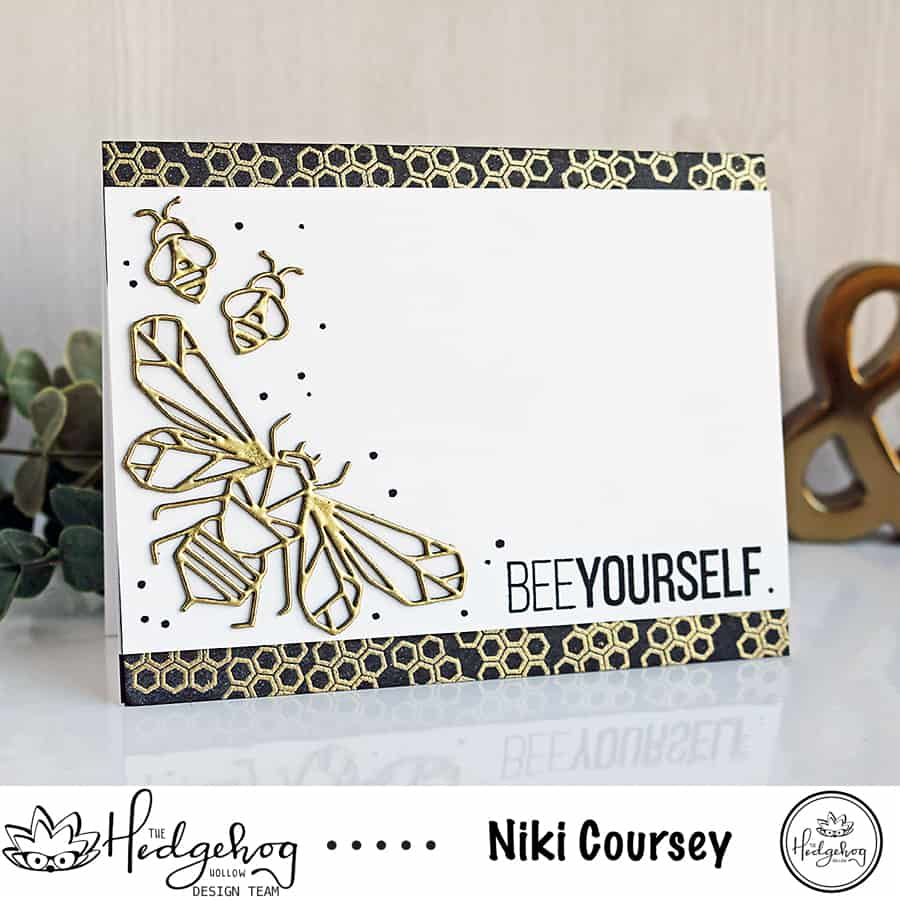Bee Yourself Honeycomb Card