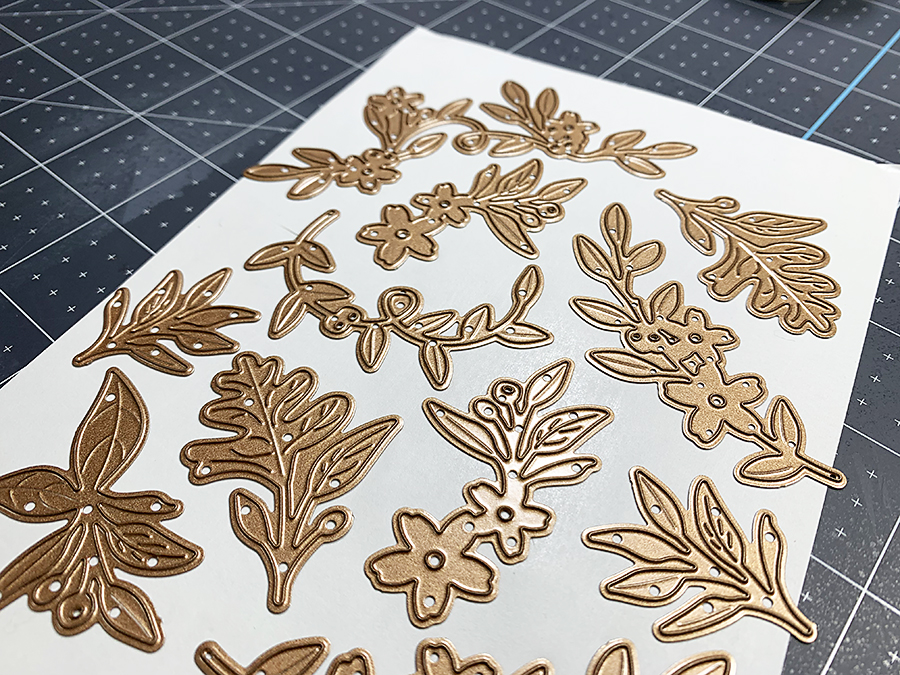 Picking up dies with masking paper - Spellbinders Die of the Month Club