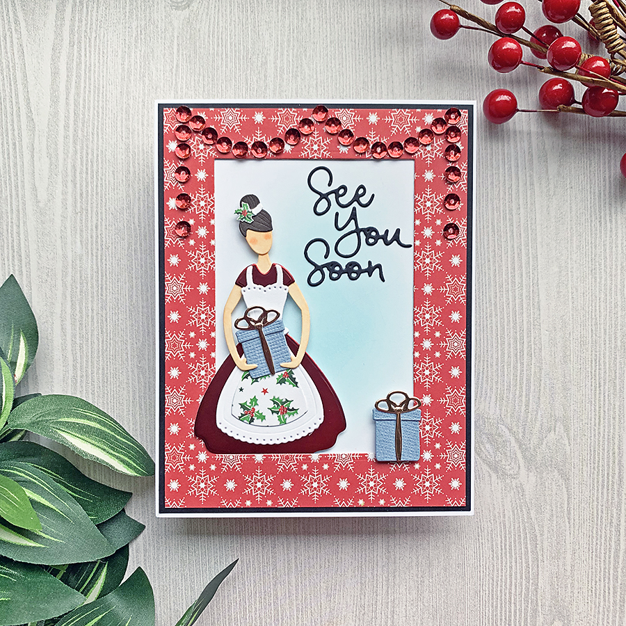 Spellbinders Small Die of the Month | Home for the Holidays