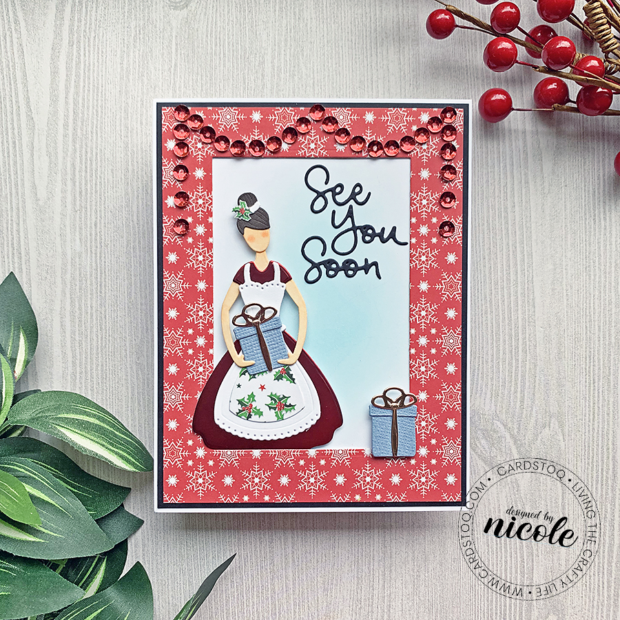 Completed Card! Spellbinders Small Die of the Month: Home for the Holidays