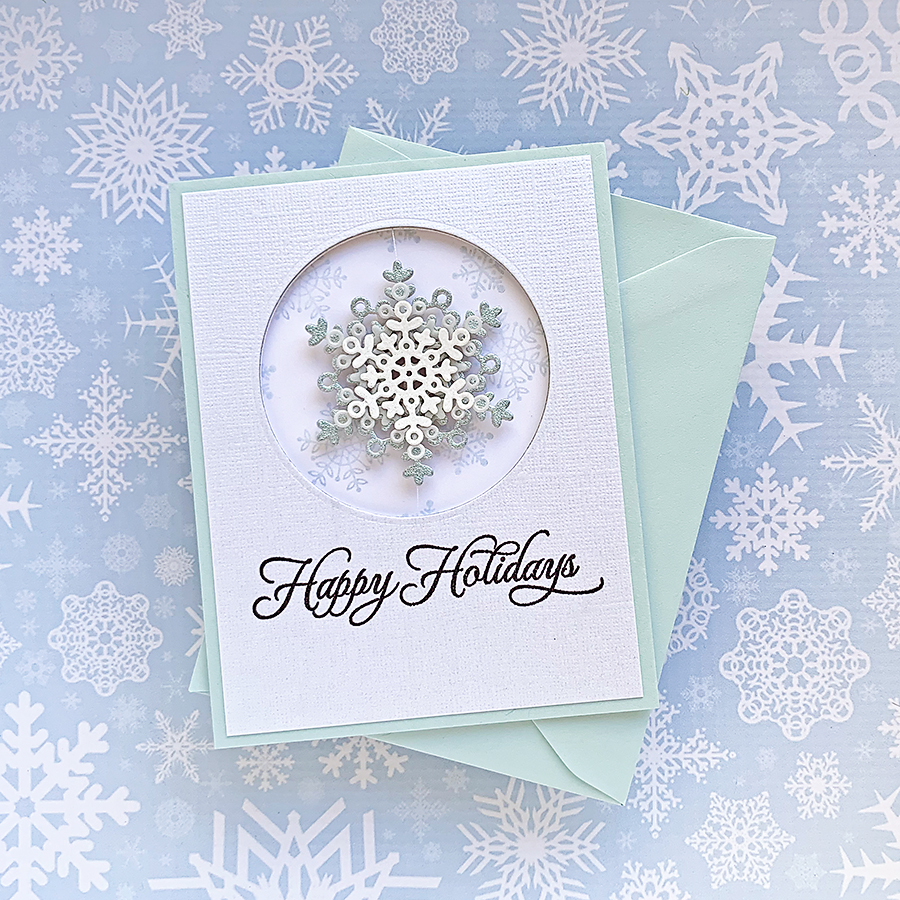 Movers & Shakers: Snowflake Spinner Holiday Card