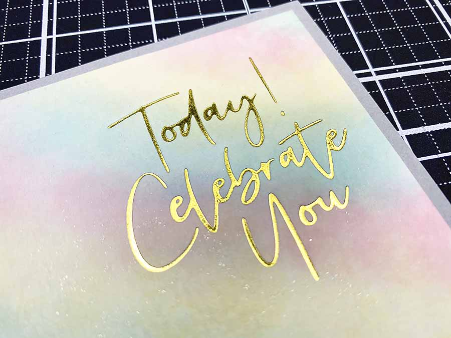 Celebrate You: A Happy, Pastel Watercolor Card