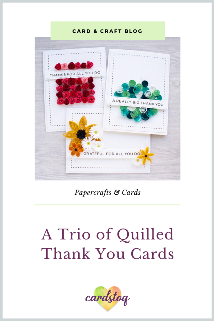 A Trio of Quilled Thank You Cards