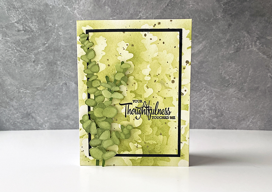 A Thoughtful Ink Blended Eucalyptus Card